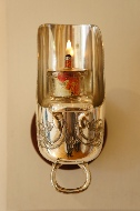Sugar scuttle vaseline oil lamp